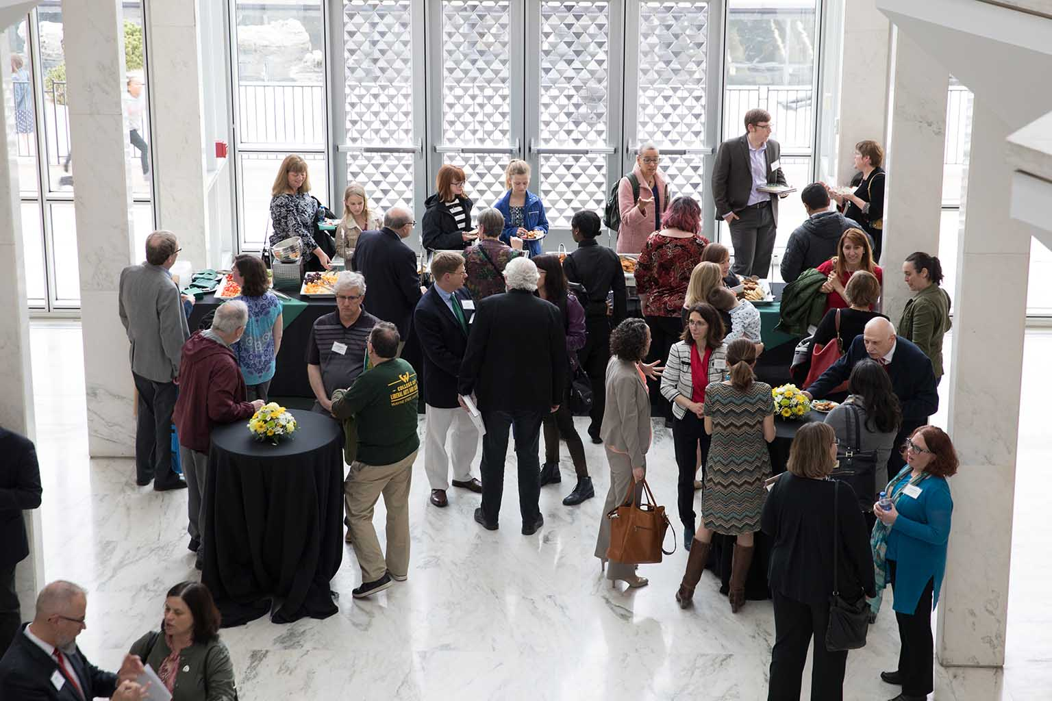 Guests at the 2019 Academic Recognition Ceremony Reception