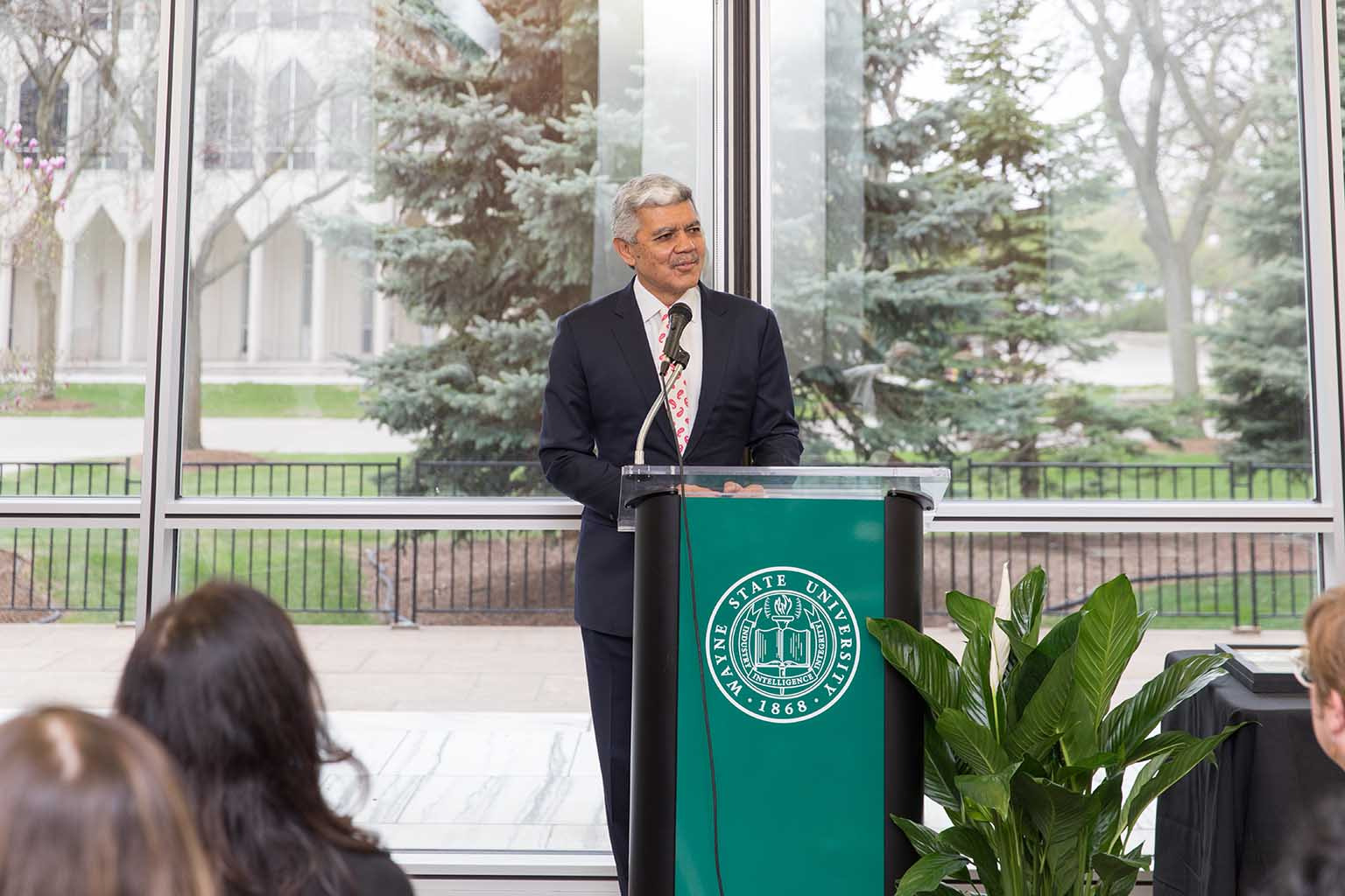 President M. Roy Wilson speaking at the 2019 Academic Recognition Ceremony