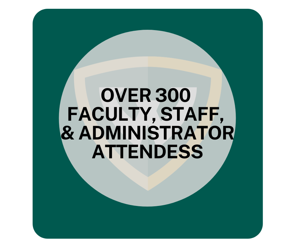 Over 300 Faculty, Staff, and Administrator Attendees